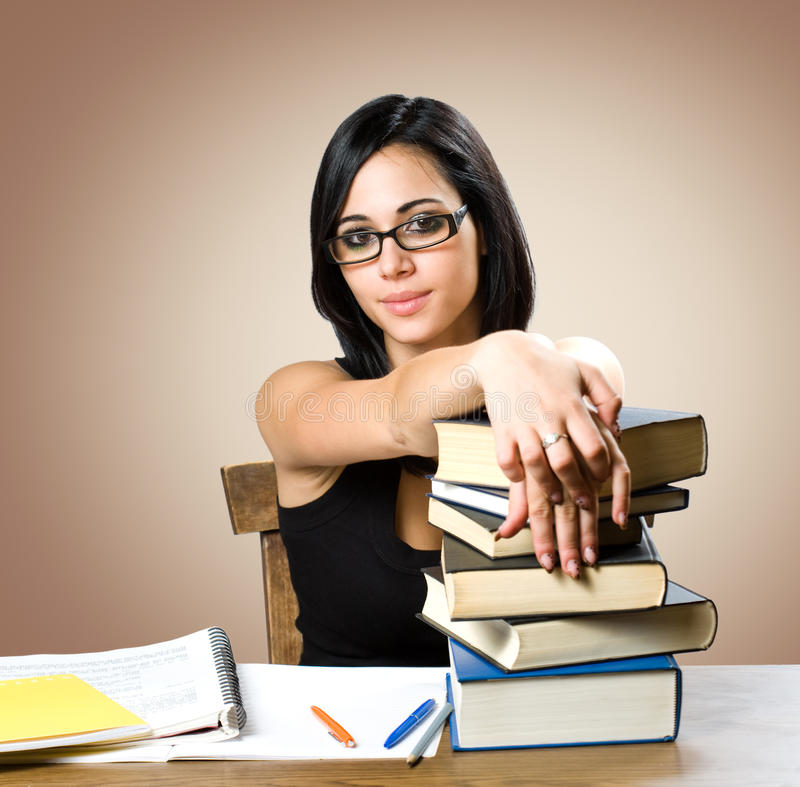 Download Gorgeous Young Student Woman. Stock Image - Image: 27047919