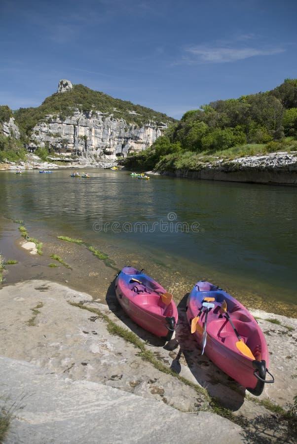 Gorges d'Ardèche. La France images libres de droits