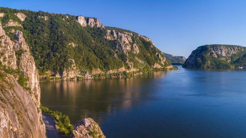 Gorges de Danube Cazanele Mari, Roumanie images stock