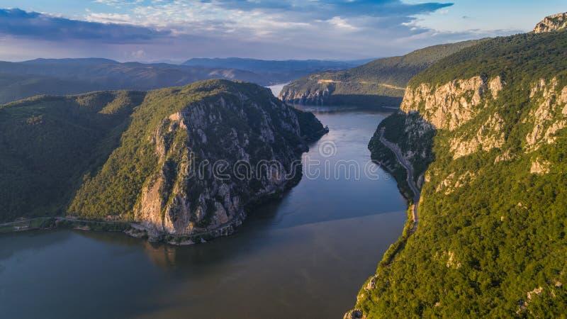 Gorges de Danube Cazanele Mari, Roumanie photos libres de droits