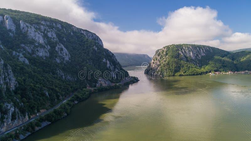 Gorges de Danube Cazanele Mari, Roumanie image stock