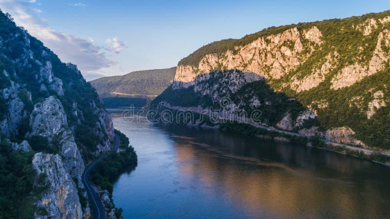 Gorges de Danube Cazanele Mari, Roumanie images libres de droits