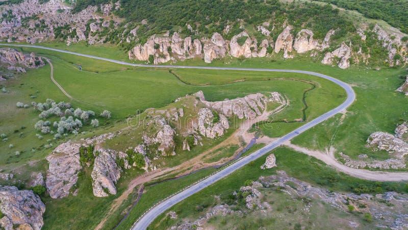 Gorges de Dobrogea et x28 ; Cheile Dobrogei& x29 ; Roumanie photo stock