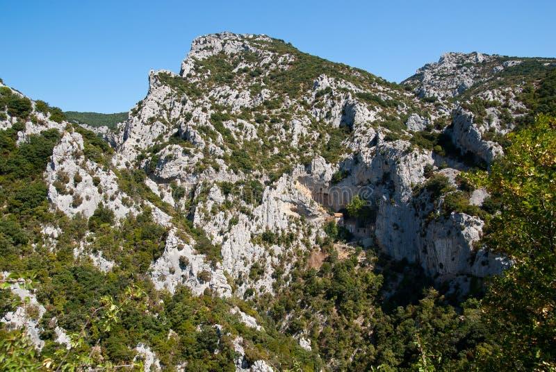Gorges de Galamus стоковые изображения