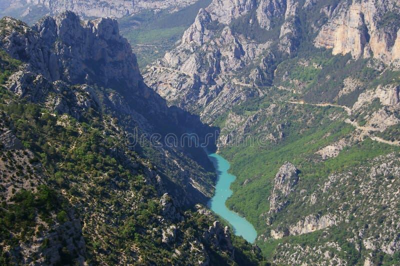 Gorges de Verdon, fleuve, gorge image stock