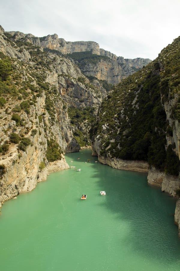 Gorges de Verdon Lac St Croix, France royalty free stock photography