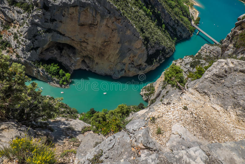 Gorges du维登法国 免版税库存照片