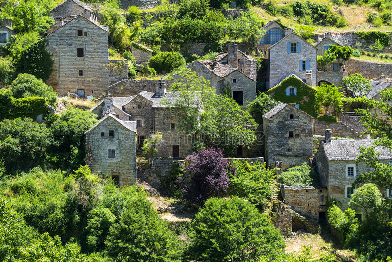 Gorges du el Tarn, pueblo imágenes de archivo libres de regalías