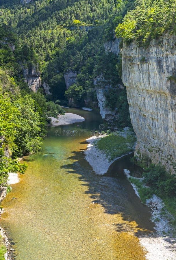 Download Gorges du Tarn, village stock photo. Image of river, tarn - 34722348