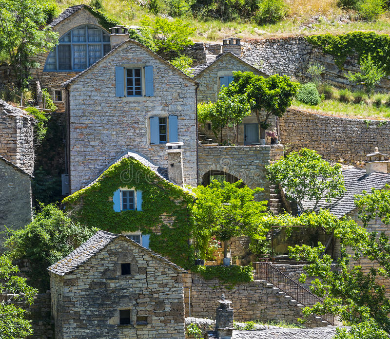 Download Gorges du Tarn, village stock image. Image of photography - 34525815