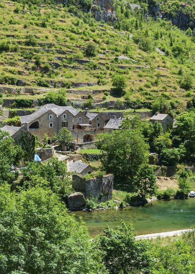 Download Gorges du Tarn, village stock image. Image of scenic - 35270653