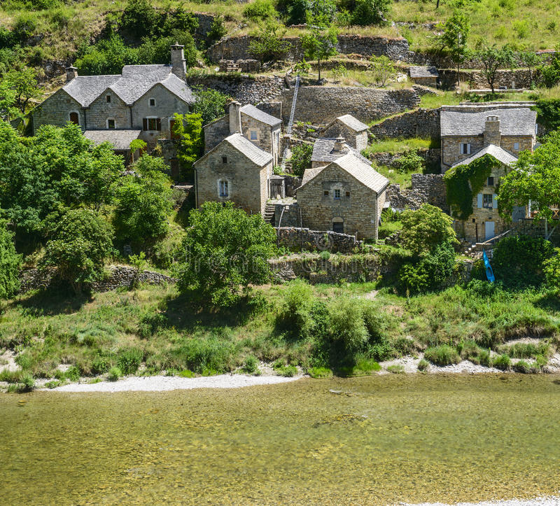 Download Gorges du Tarn, village stock photo. Image of scenic - 35449918