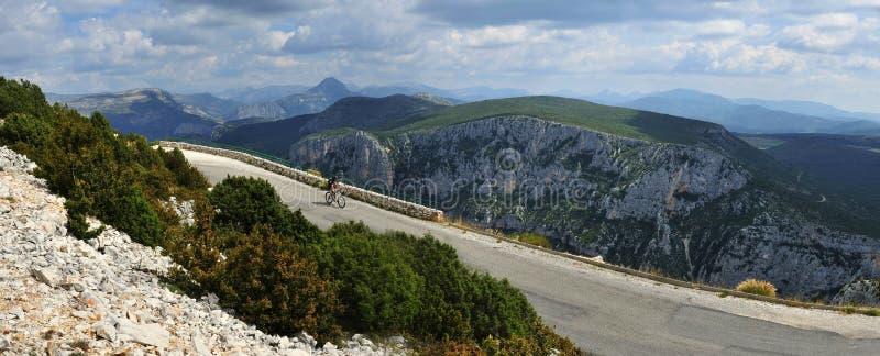 Gorges du Verdon Biking, Provence, Francia fotografía de archivo libre de regalías