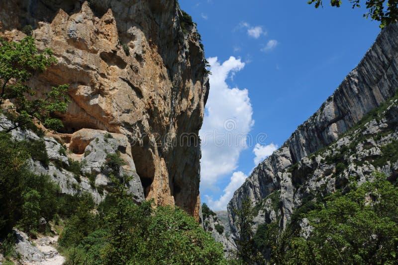 Gorges du Verdon in Frankrijk stock afbeelding