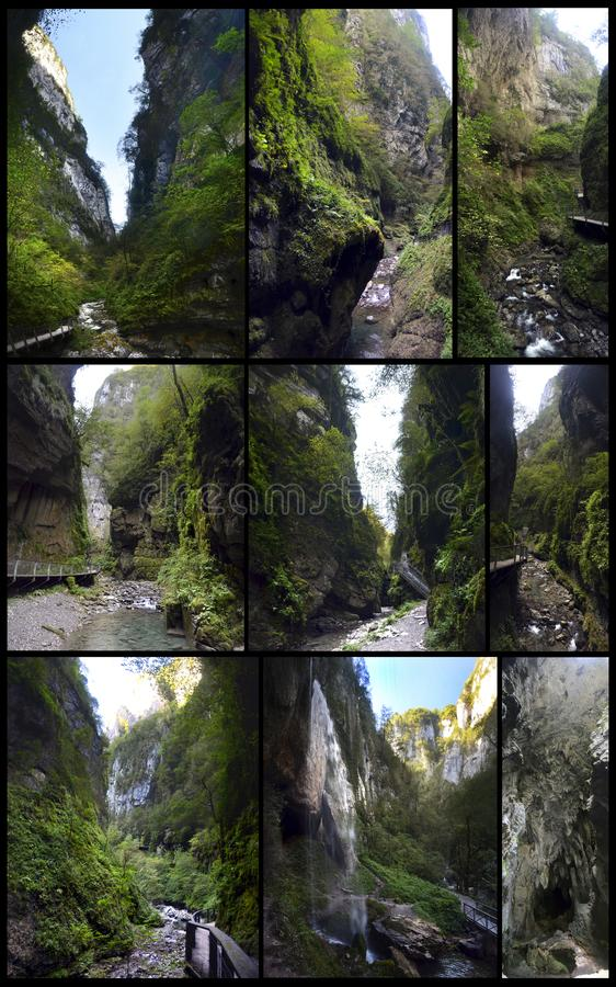 The gorges of Kakuetta stock image