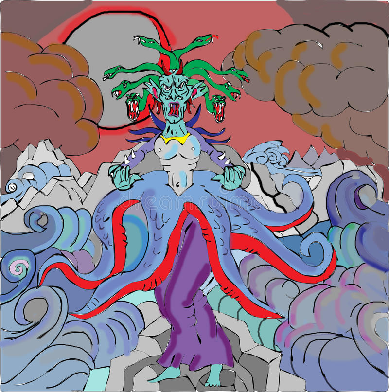 Gorgon royalty-vrije illustratie