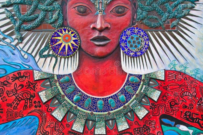 Gorgon-come arte della via della donna immagine stock libera da diritti