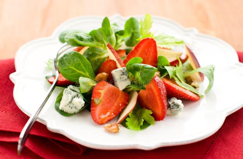 gorgonzola φράουλα σαλάτας στοκ εικόνες