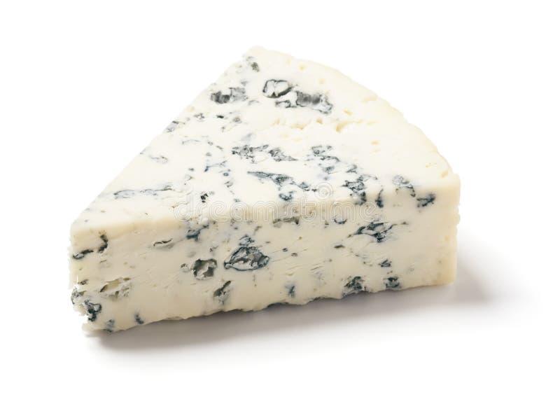 Gorgonzola eller Bleuost på vit bakgrund royaltyfria foton