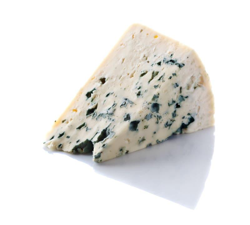 Gorgonzola ost på vit royaltyfria foton