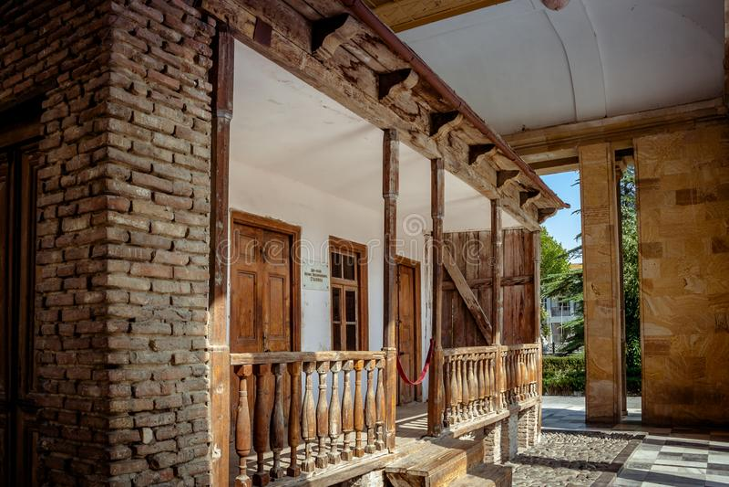 Gori, зона Shida Kartli, Georgia, Евразия Дом уроженца Сталина стоковое изображение rf