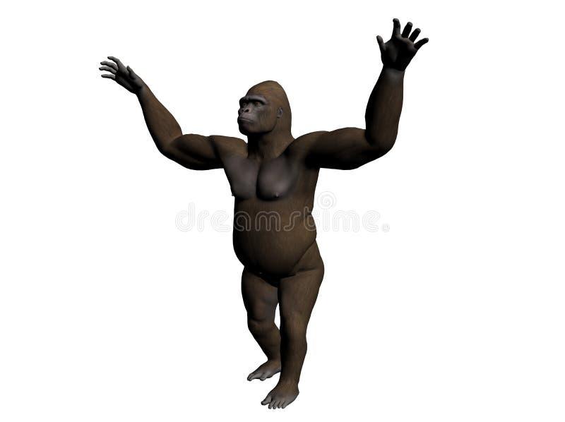 Gorila ilustração royalty free