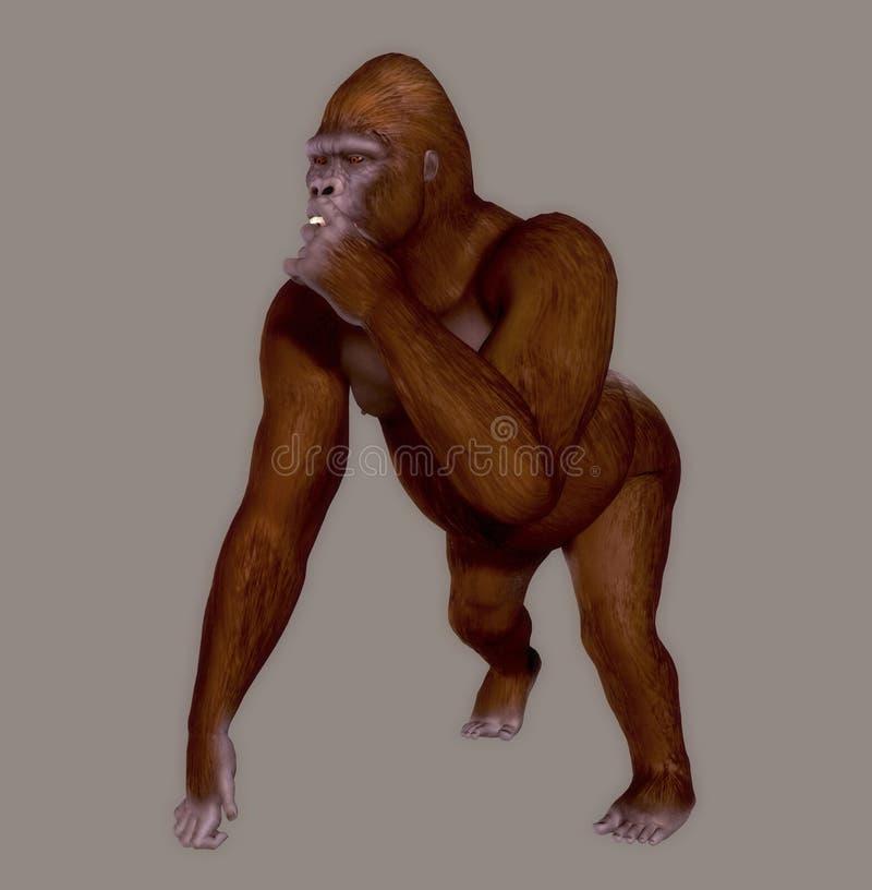 Download Gorila stock de ilustración. Ilustración de aislado, enorme - 7286579
