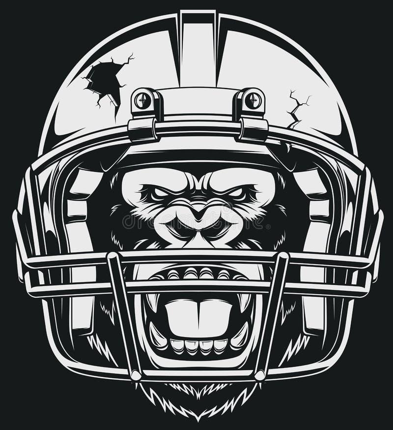 Gorila agressivo ilustração royalty free