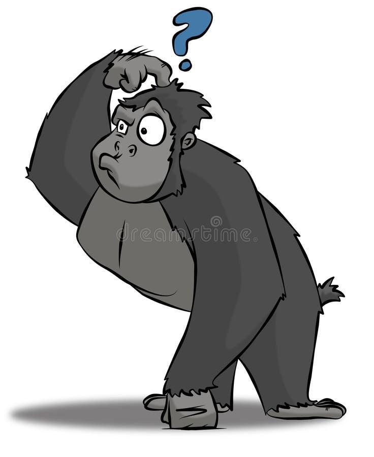 Gorila confuso ilustração stock