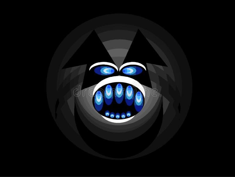 Gorila de la cara stock de ilustración