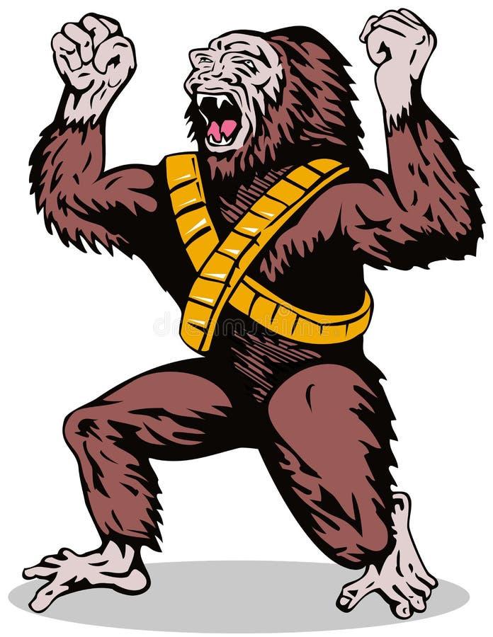 Gorila del super héroe ilustración del vector