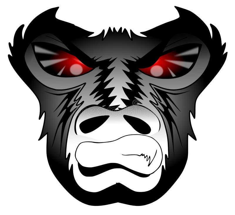 Gorila enojado ilustración del vector
