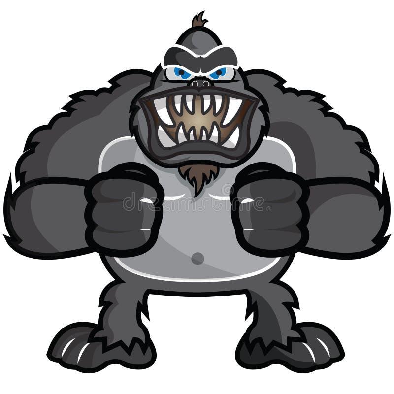 gorilla illustrazione di stock