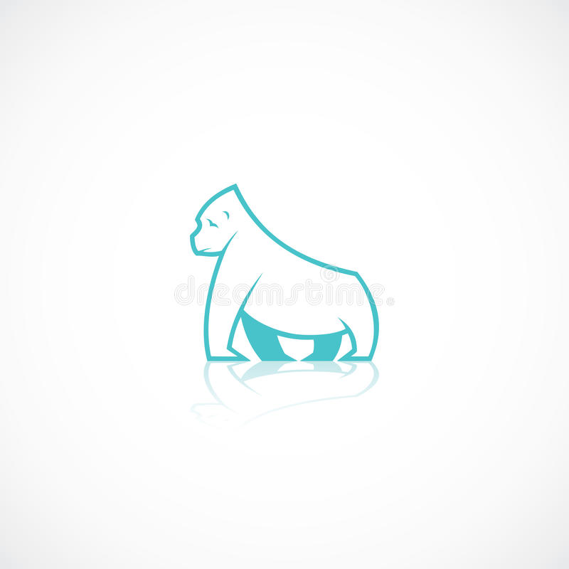 Gorilla stock illustratie