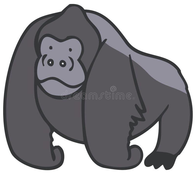 gorilla vektor illustrationer