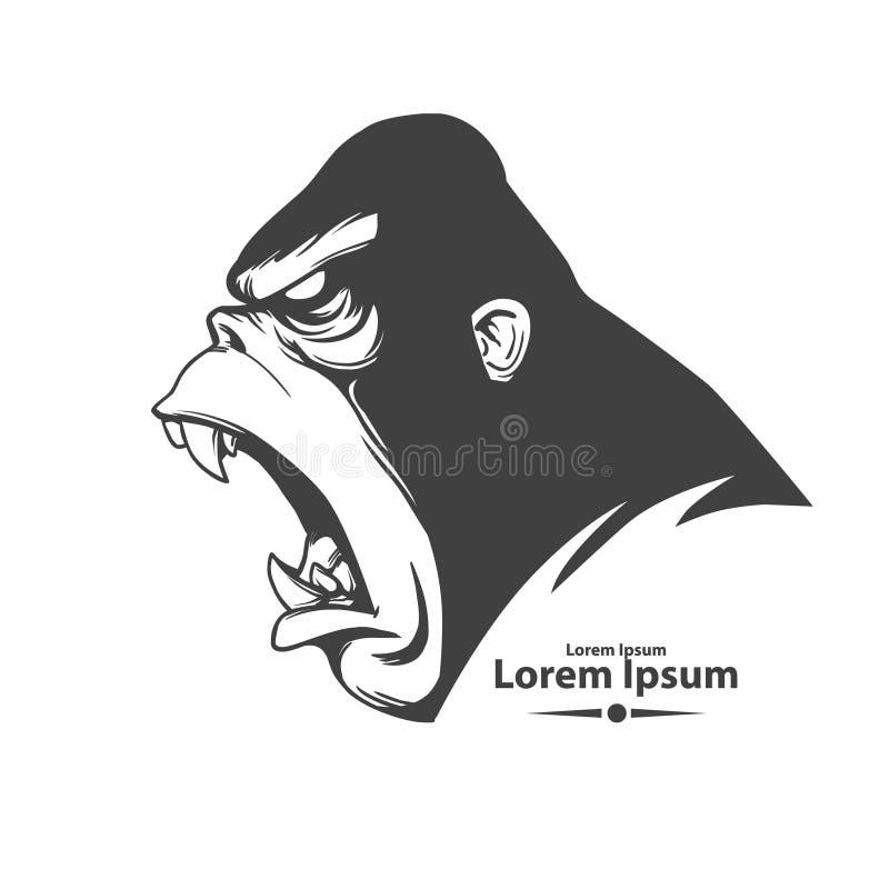 Gorilla2 ilustração stock