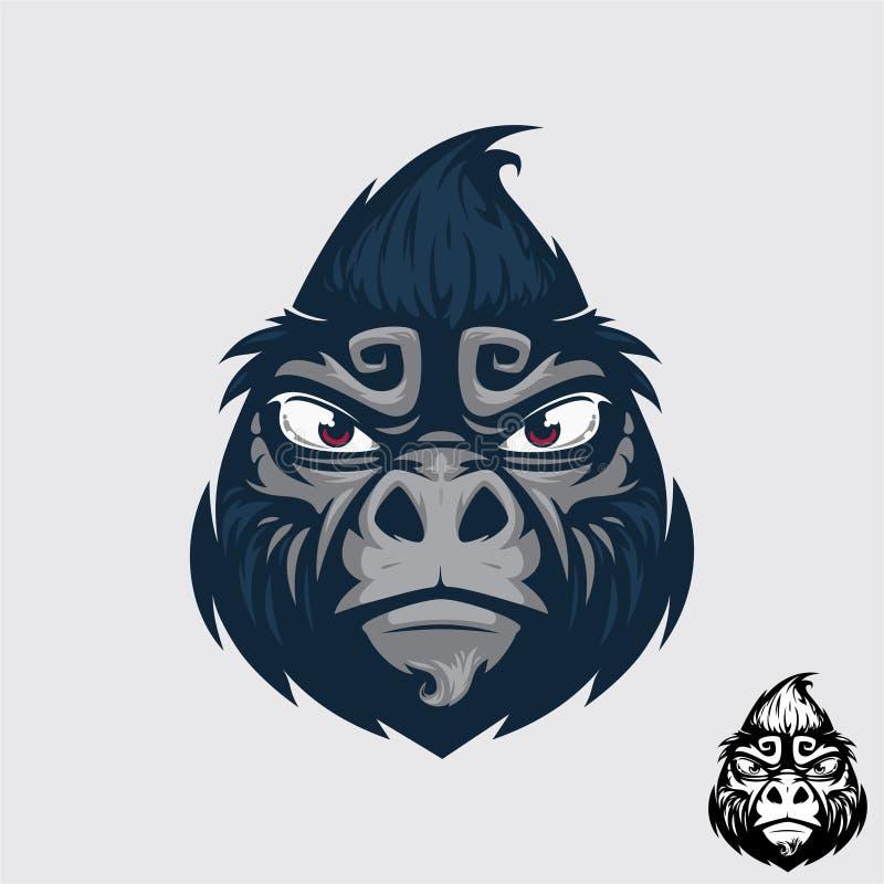 Gorilla arrabbiata illustrazione di stock