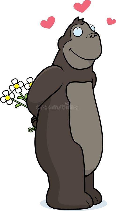 Gorilla-Blumen stock abbildung