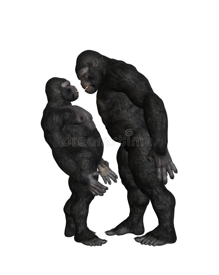 Gorilla Bully Bullying Illustration illustrazione di stock