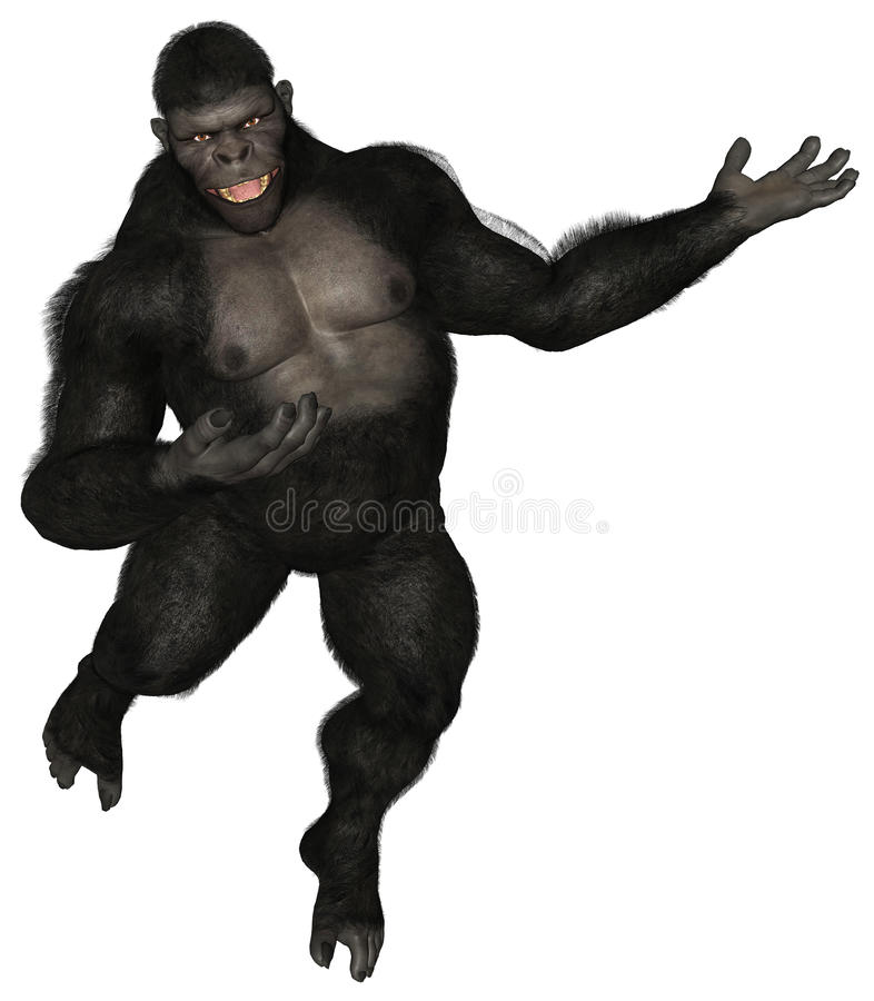 Gorilla della scimmia il VOSTRO PRODOTTO QUI isolato illustrazione vettoriale