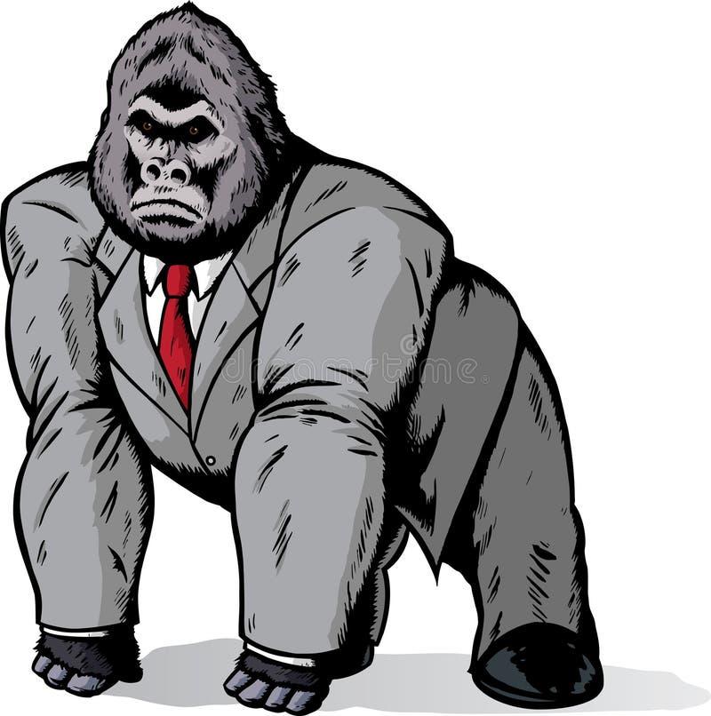 Gorilla in der Klage vektor abbildung