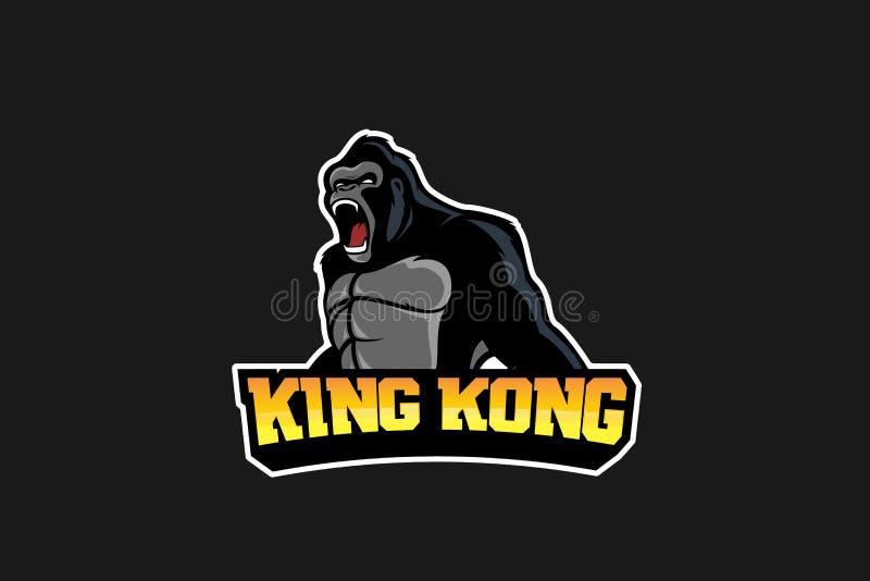 Gorilla Esport Logo ilustração do vetor