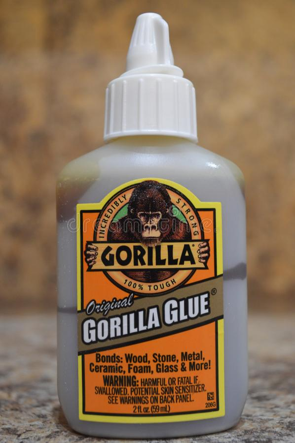 Gorilla Glue stock foto