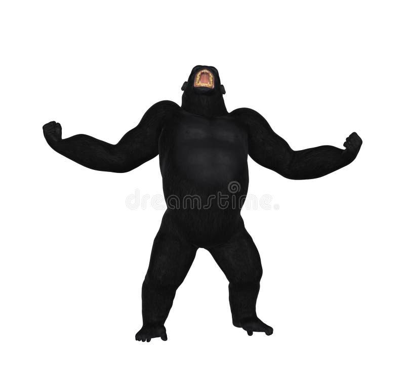 Gorilla Growl Aggression Illustration ilustración del vector