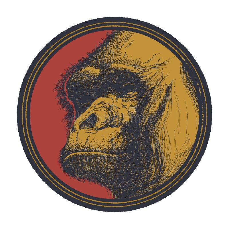 Gorilla Head Logo Mascot Emblem illustrazione vettoriale