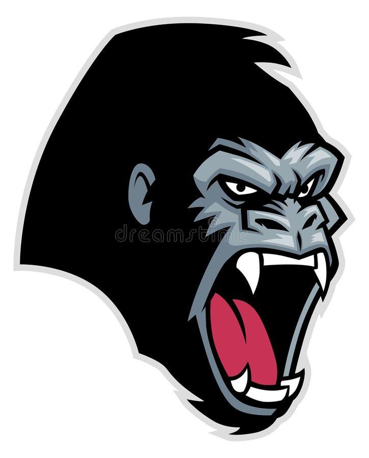 Gorilla head royalty free illustration