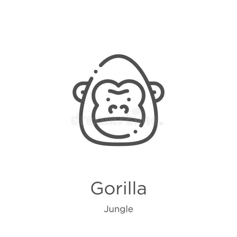 gorilla stock vector  illustration of drawing  funny  jungle