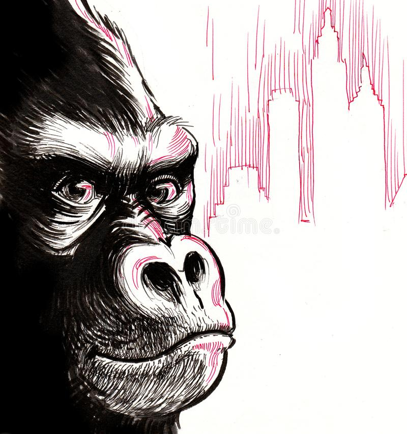Gorilla King Kong stock illustration