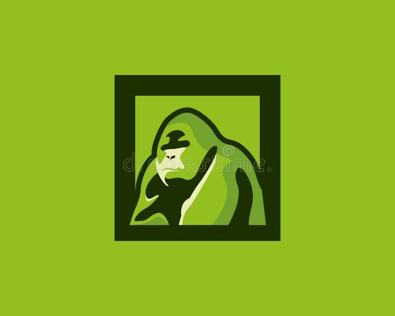 Gorilla Logo Design dedans et image de haute résolution photos stock