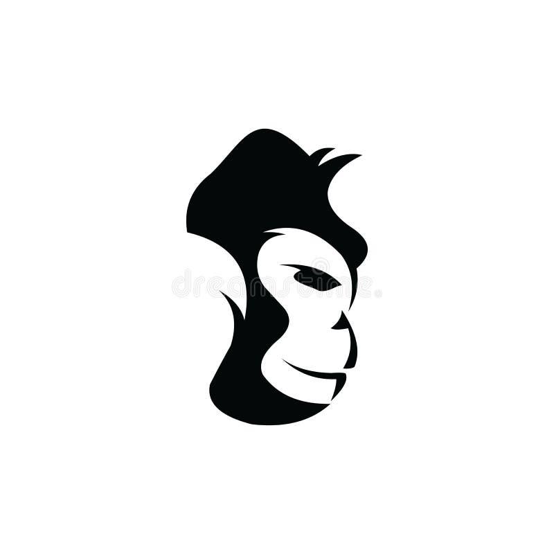 Gorilla Logo Design, icon, Vector, illustration. Ape, graphic, monkey, silhouette, symbol, angry, animal, art, background, black, cartoon, cat, chimp, cut stock illustration